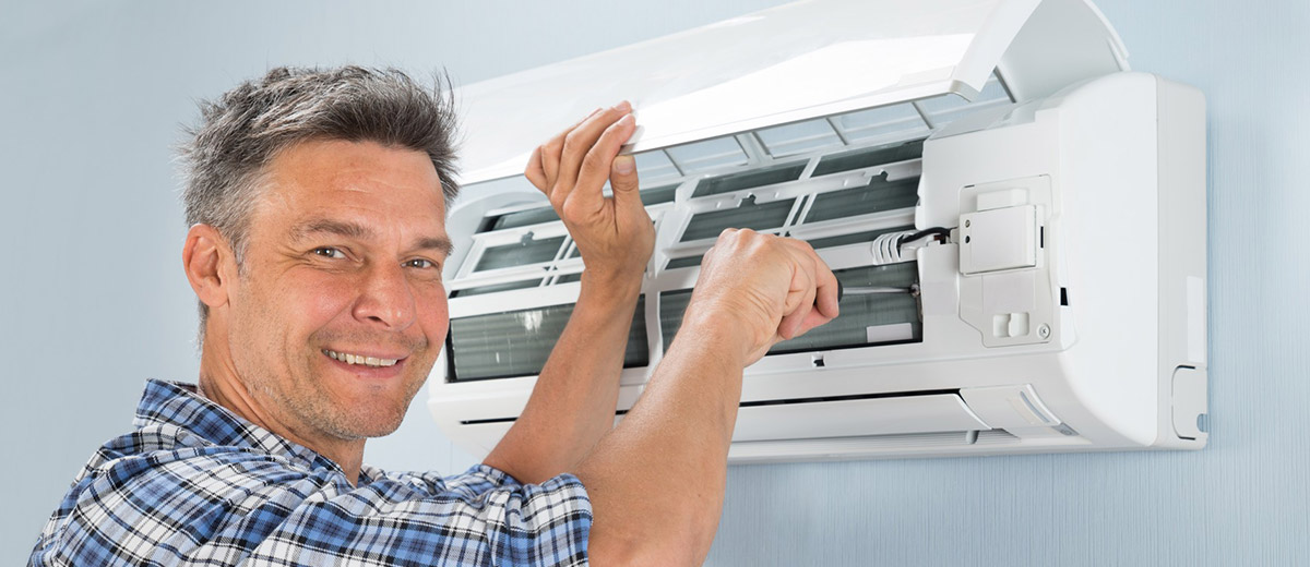 Air conditioning repairs being performed in Valley View